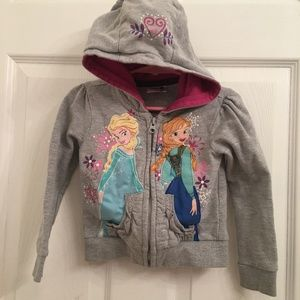 Disney Frozen Elsa & Anna Girls Zip Up Hoodie